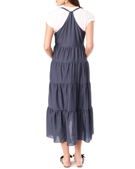 Image 3 of 4: Loyal Hana Maternity Rio Tiered Racerback Dress