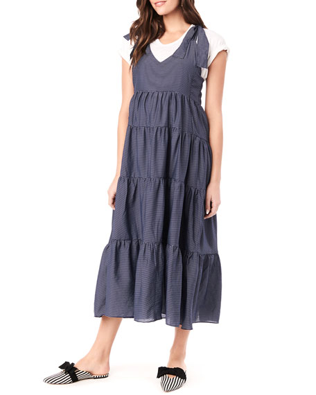 Image 1 of 4: Loyal Hana Maternity Rio Tiered Racerback Dress