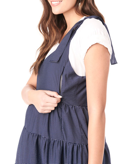 Image 4 of 4: Loyal Hana Maternity Rio Tiered Racerback Dress