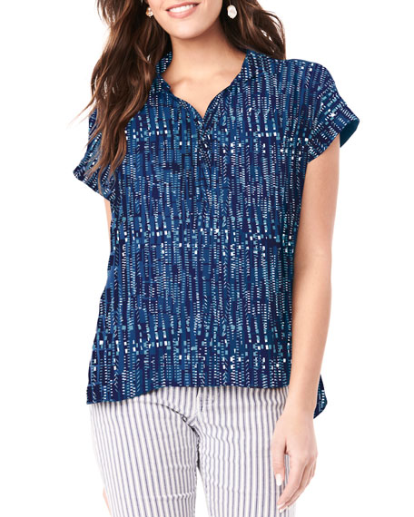 Image 1 of 3: Nursing Shannon Arrow-Print Top