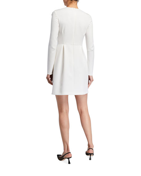 Image 2 of 2: REDValentino Long-Sleeve Crepe Double Stretch Dress