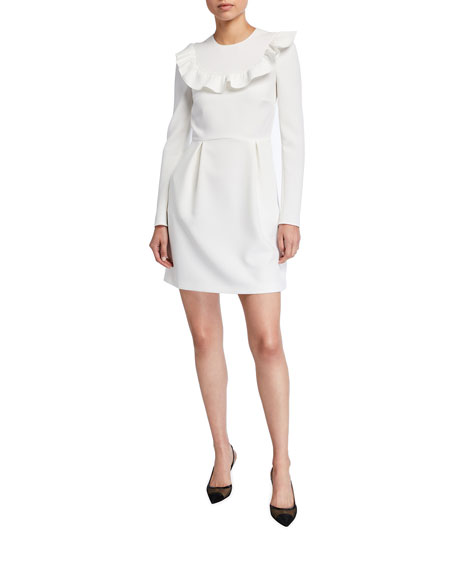 Image 1 of 2: REDValentino Long-Sleeve Crepe Double Stretch Dress