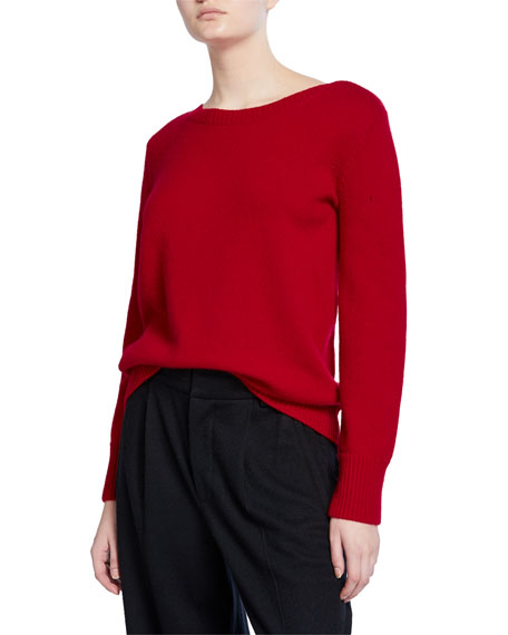 Vince Boat-Neck Cashmere Pullover Sweater