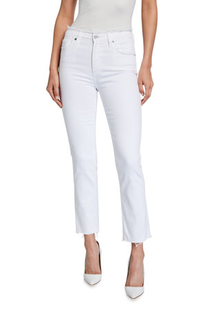 AG Adriano Goldschmied Isabelle High-Rise Straight Jeans