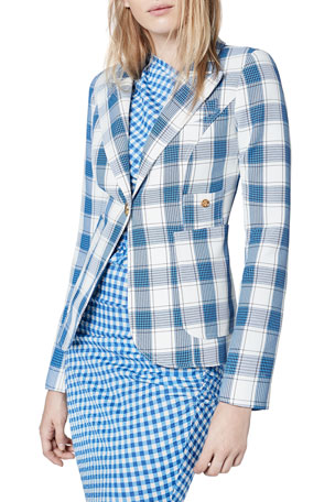 Smythe Duchess Patch Pocket Check Blazer