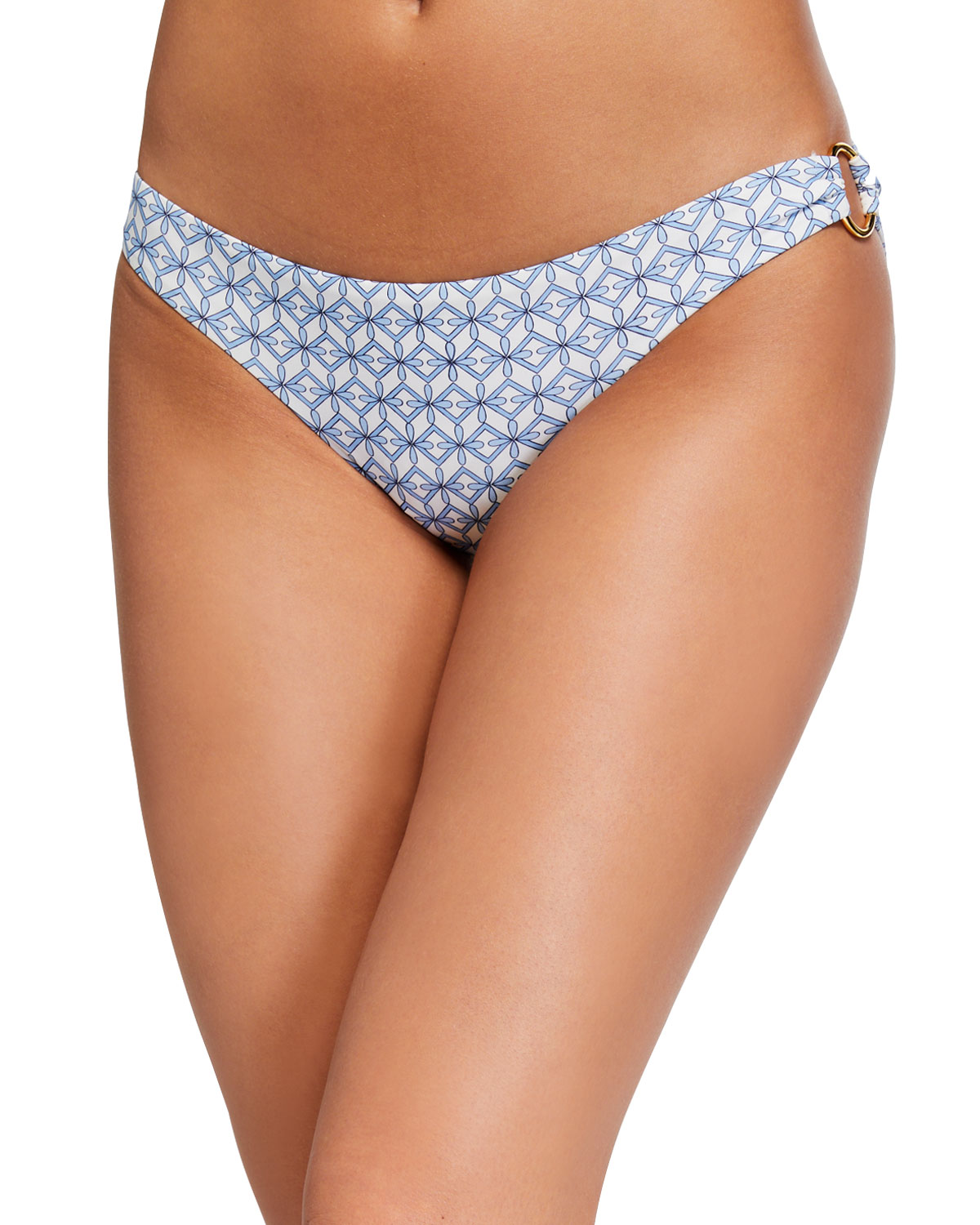 Tory Burch Geo Printed O-Ring Hipster Bikini Bottom