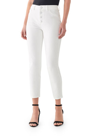 DL1961 Premium Denim Farrow Cropped Vintage High-Waist Skinny Jeans