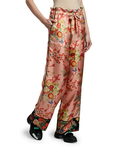 Blooming Silk Pajama Pants