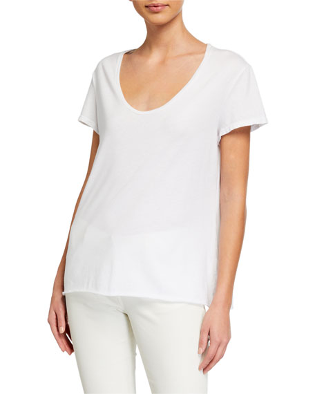 Image 2 of 3: Frank & Eileen Tee Lab Essential Scoop-Neck Short-Sleeve Tee