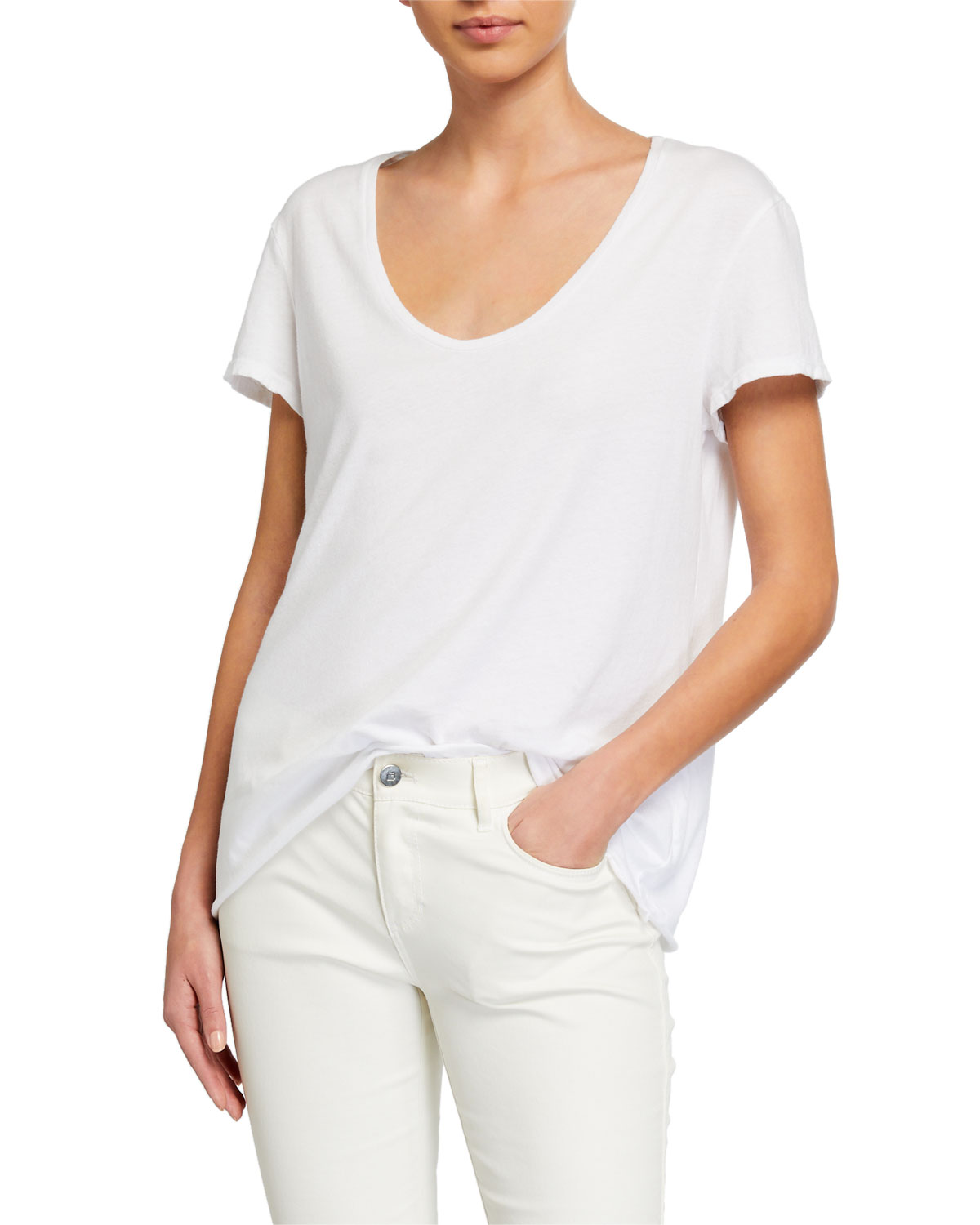 Frank & Eileen Tee Lab Essential Scoop-Neck Short-Sleeve Tee
