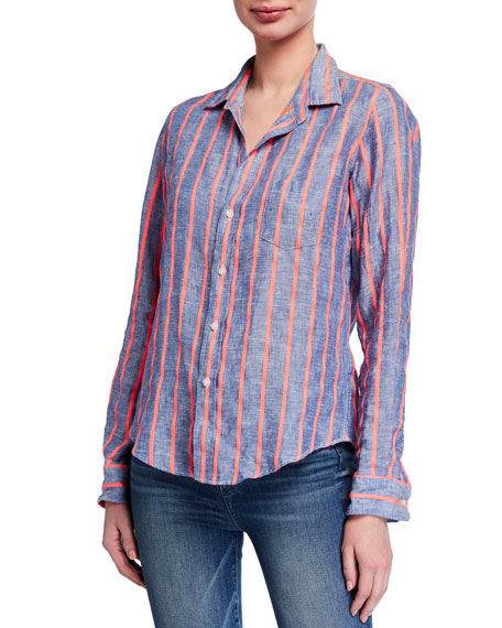 Image 2 of 3: Frank & Eileen Barry Striped Long-Sleeve Button Down Shirt