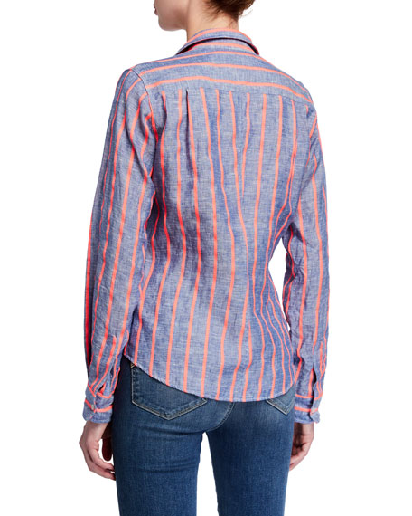 Image 3 of 3: Frank & Eileen Barry Striped Long-Sleeve Button Down Shirt