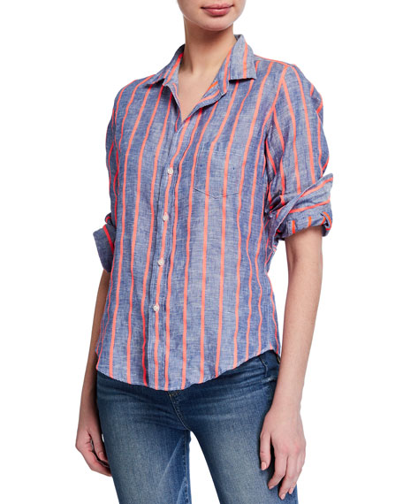 Image 1 of 3: Frank & Eileen Barry Striped Long-Sleeve Button Down Shirt