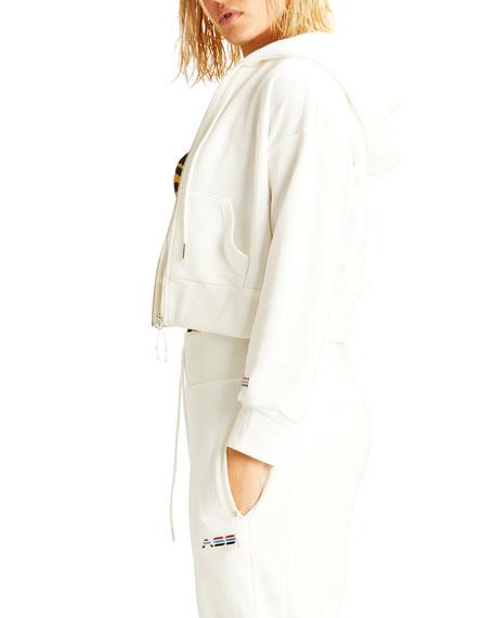 Adam Selman Sport Shrunken Zip-Front Hoodie Jacket