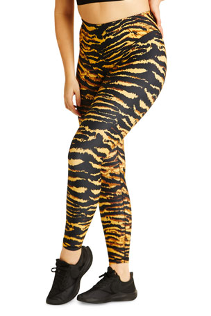 Adam Selman Sport French-Cut Leggings - Tiger