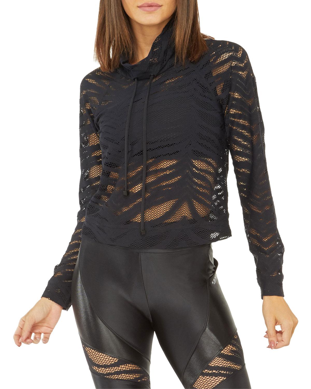Koral Pump Vine Open Mesh Pullover Sweatshirt