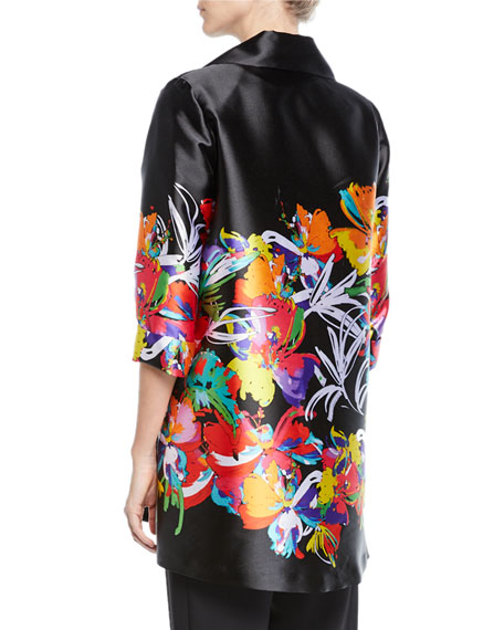 Image 2 of 2: Petite Tropical Punch Printed Tunic