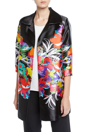 Petite Tropical Punch Printed Tunic