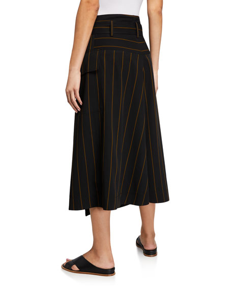 Image 2 of 3: Vince Belted Striped Utility Skirt