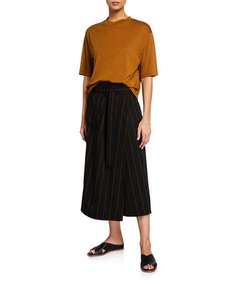 Image 3 of 3: Vince Belted Striped Utility Skirt