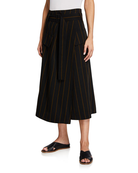 Image 1 of 3: Vince Belted Striped Utility Skirt