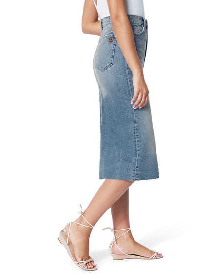 Image 2 of 3: Joe's Jeans The A-Line Skirt with Cut Hem