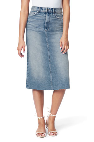 Joe's Jeans The A-Line Skirt with Cut Hem