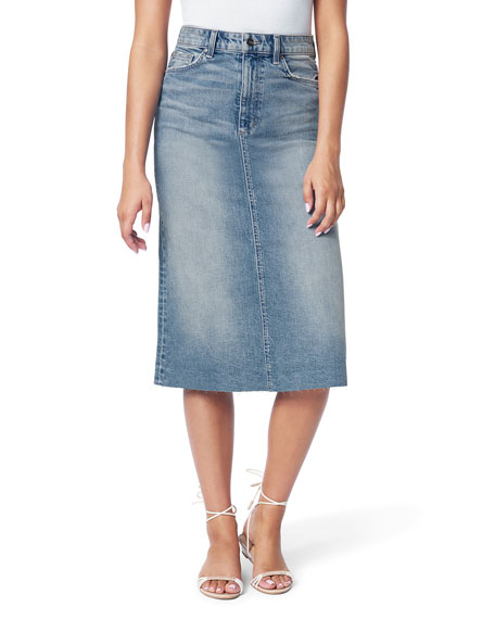 Image 1 of 3: Joe's Jeans The A-Line Skirt with Cut Hem