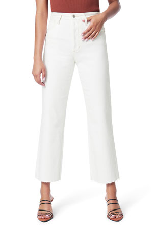 Joe's Jeans The Blake Cropped Wide-Leg Jeans w/ Cut Hem