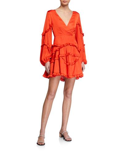 Nala Frilly Deep-V Dress