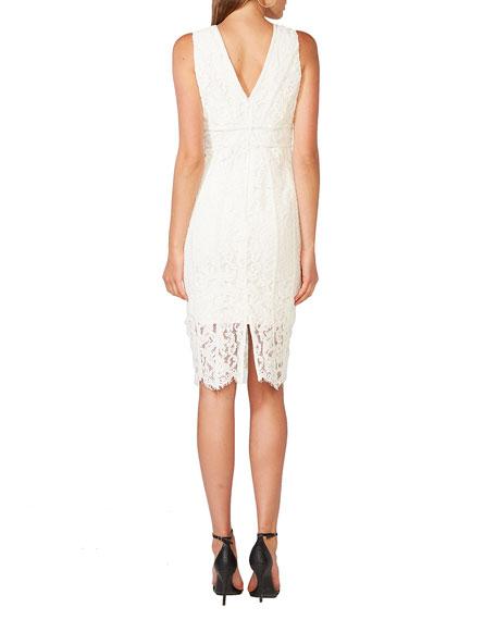 Bardot Morgan Sleeveless Lace V-Neck Dress