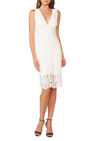 Bardot Morgan Sleeveless Lace V-Neck Dress