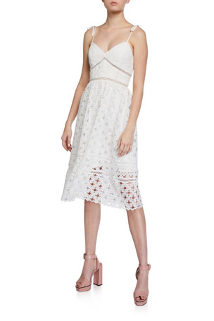 Bardot Louisiana Lace Midi Dress