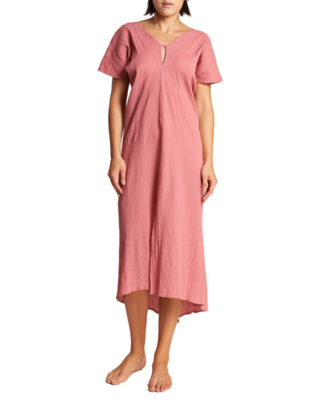 LeSwim Tyche V-Neck High-Low Maxi Dress