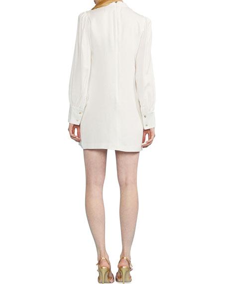 Cynthia Rowley Harper Sequin Embroidered Mock-Neck Mini Dress