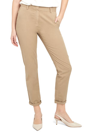 Theory Treeca 2 Cuffed Twill Cropped Pants