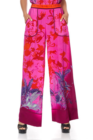 Camilla Print Lounge Trouser with Cuffs