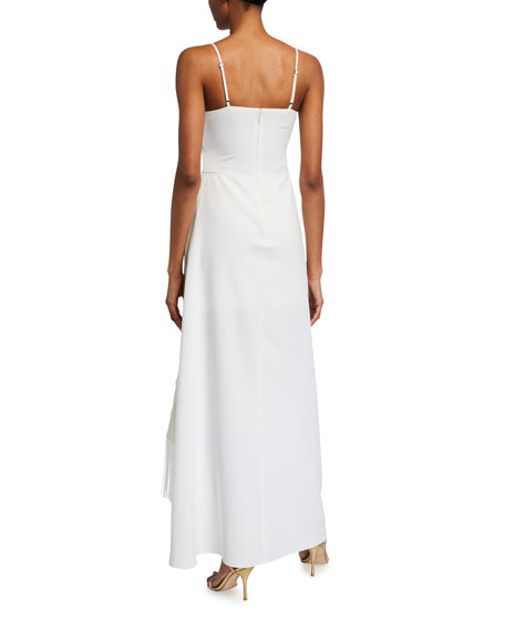 Likely Renata Spaghetti-Strap Side-Drape Gown