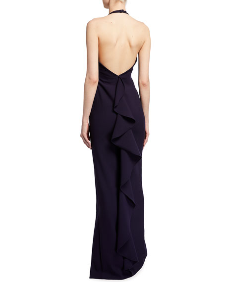 Likely Ferris Backless Halter Gown
