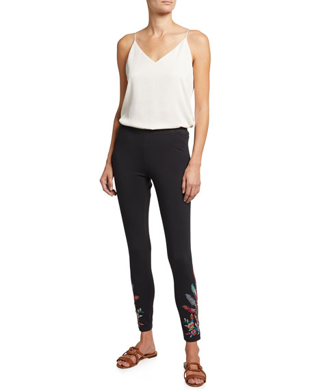 Image 3 of 4: Johnny Was Imani Leggings with Floral Embroidery
