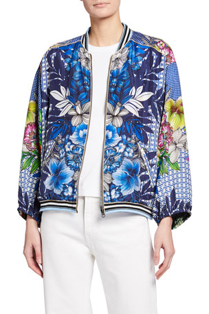 Johnny Was Mizumi Reversible Bomber Jacket