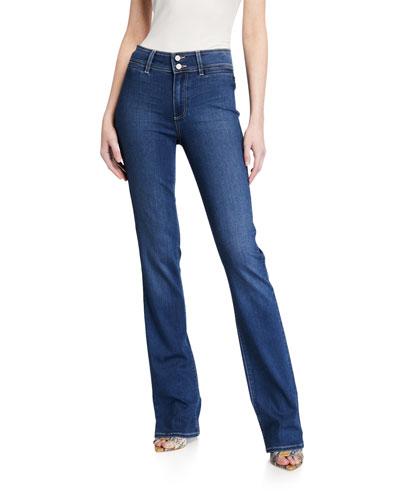 Manhattan High-Rise Boot-Cut Jeans