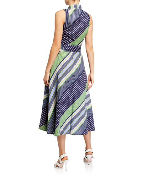 Image 2 of 2: Tory Burch Overprinted Sleeveless Wrap Dress
