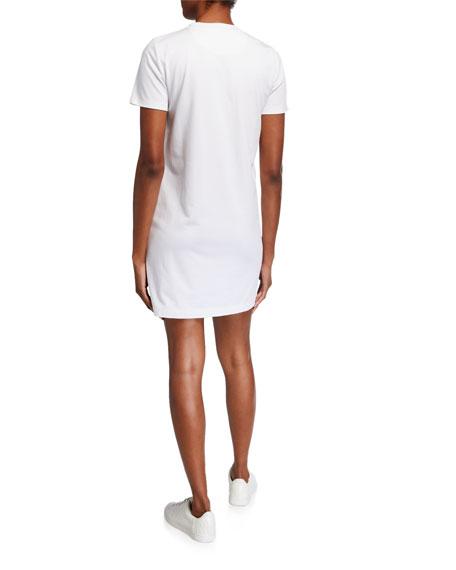 Tory Burch Logo Lace Short-Sleeve T-Shirt Dress