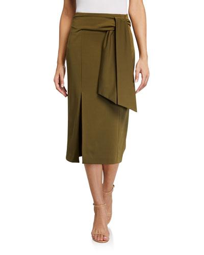 Riva Slit Midi Skirt w/ Tie
