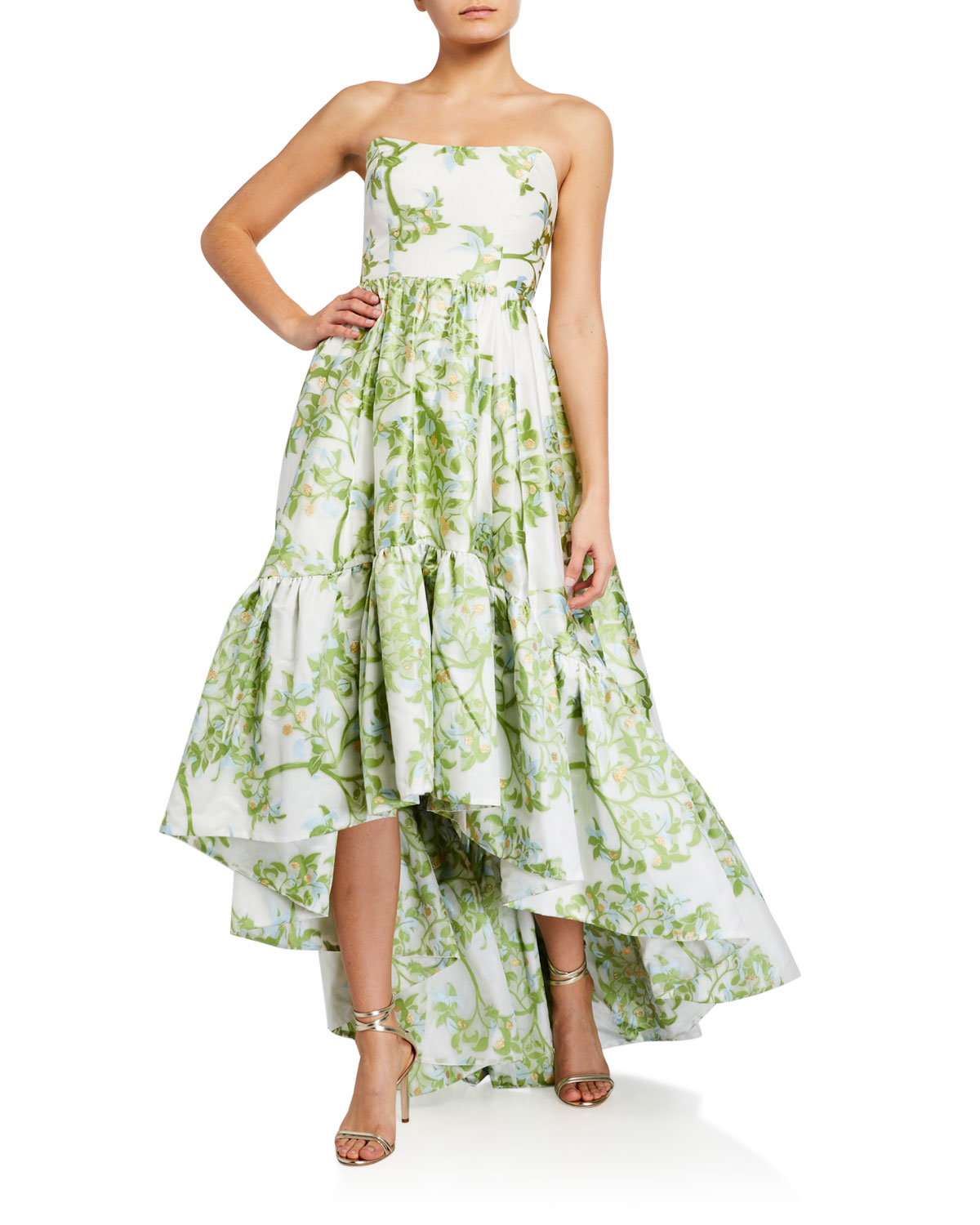 Mestiza New York Georgiana Strapless High-Low Gown