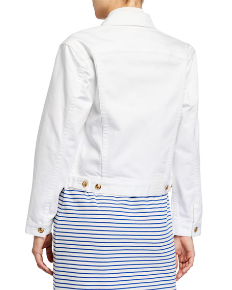 Image 2 of 3: Tory Burch Classic Denim Jacket