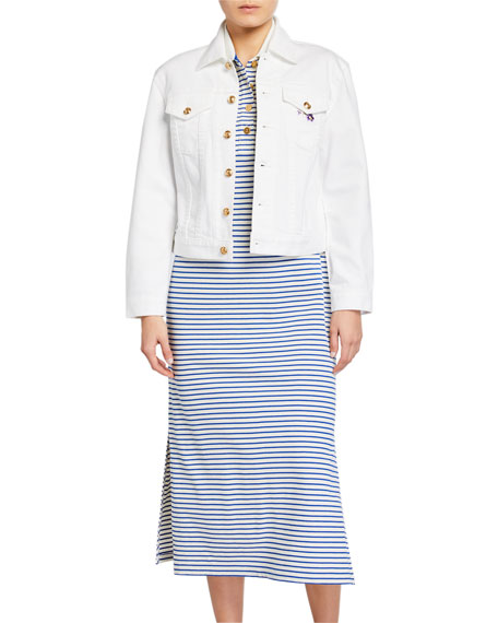 Image 1 of 3: Tory Burch Classic Denim Jacket