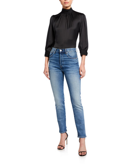 Image 3 of 3: CQY Icon Vintage Slim-Leg Jeans