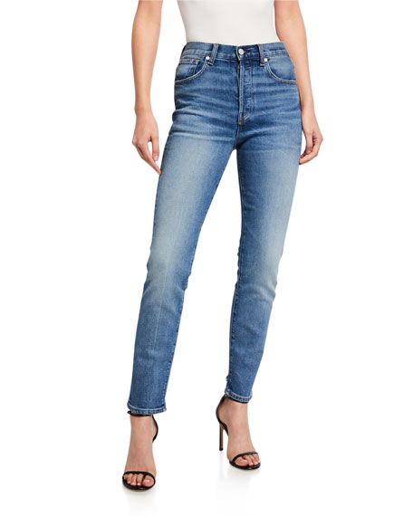 Image 1 of 3: CQY Icon Vintage Slim-Leg Jeans